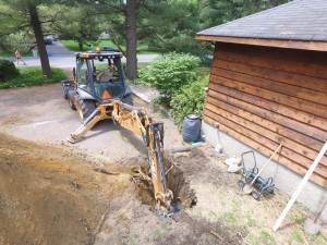 Carport excavation - Drone view