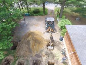 Carport excavation - Drone view