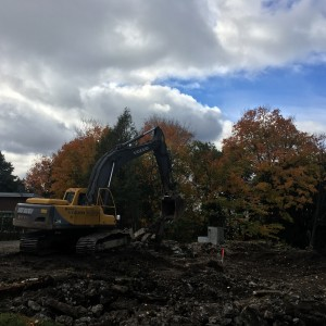 Demolition and excavation - Rothwell Heights