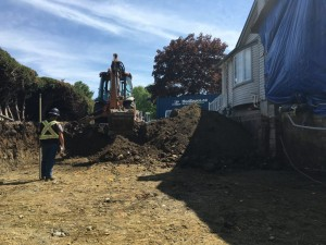 Home addition excavation